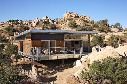 Blue Sky Homes BSH 1000 prototype in Yucca Valley, California.