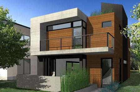 MK Designs by Blu Homes mkSolaire prefab home.